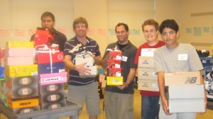 NCJW Back to School Store volunteers with shoe boxes